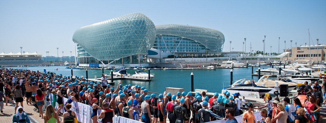 THOUSANDS PACK OUT YAS ISLAND TO WITNESS ABU DHABI TRIATHLON HISTORY