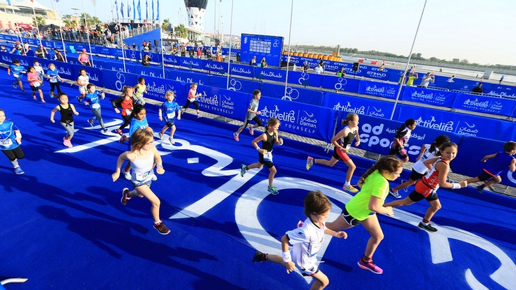 250 YOUNGSTERS TAKE THE LEAP AT THE ITU WORLD TRIATHLON ABU DHABI JUNIOR RACES ON YAS ISLAND