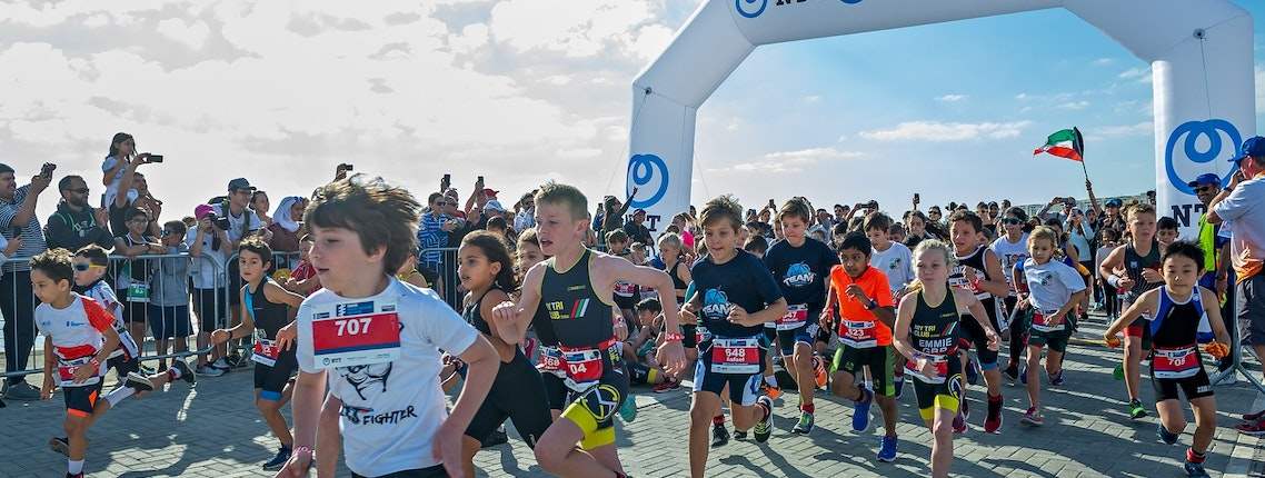 Kids of the capital get Daman World Triathlon Abu Dhabi 2019 underway!