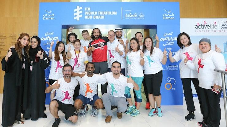 DAMAN CHALLENGE ENCOURAGES UAE COMMUNITY TO GIVE THE ITU WORLD TRIATHLON ABU DHABI A 'TRI'