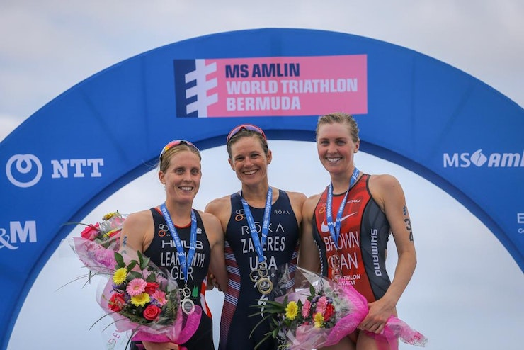 Katie Zaferes wins WTS with comfortable lead