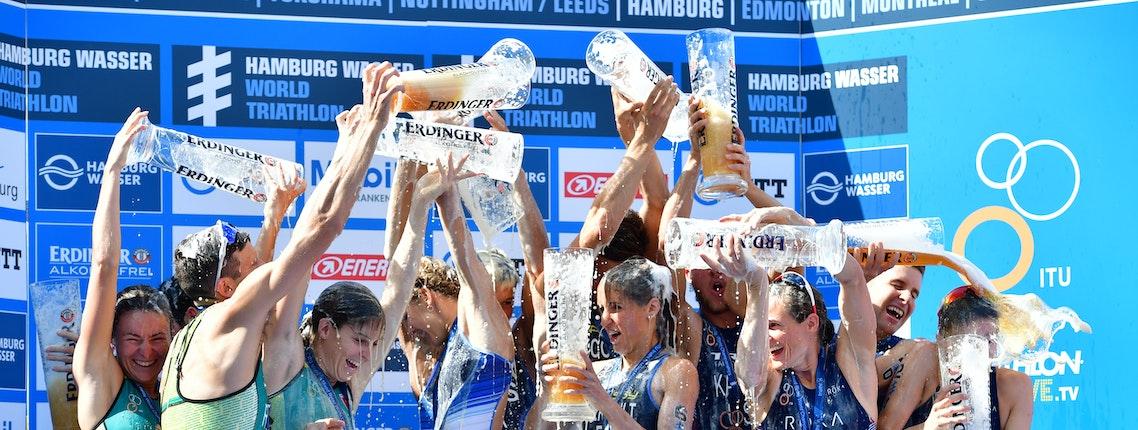 Ergebnisse Fotos Hamburg Wasser World Triathlon