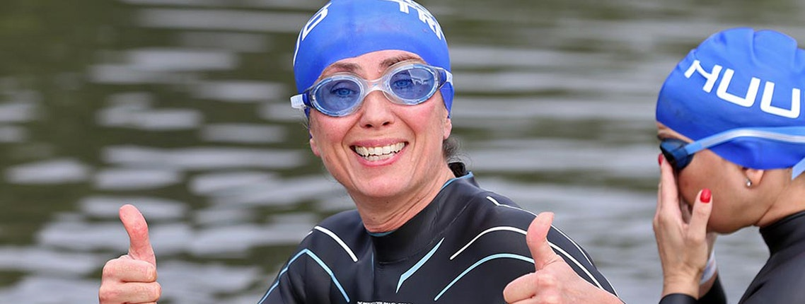 Caroline conquers open water fears with help from Brownlee training partner