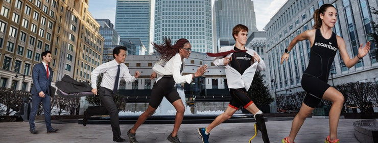 Accenture Mixed Team Challenge to get people out of the office and into triathlon